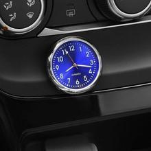 Pocket Small Mini Luminous Quartz Analog Watch Stick-On Ornament Accessories Internal Clock Auto Car
