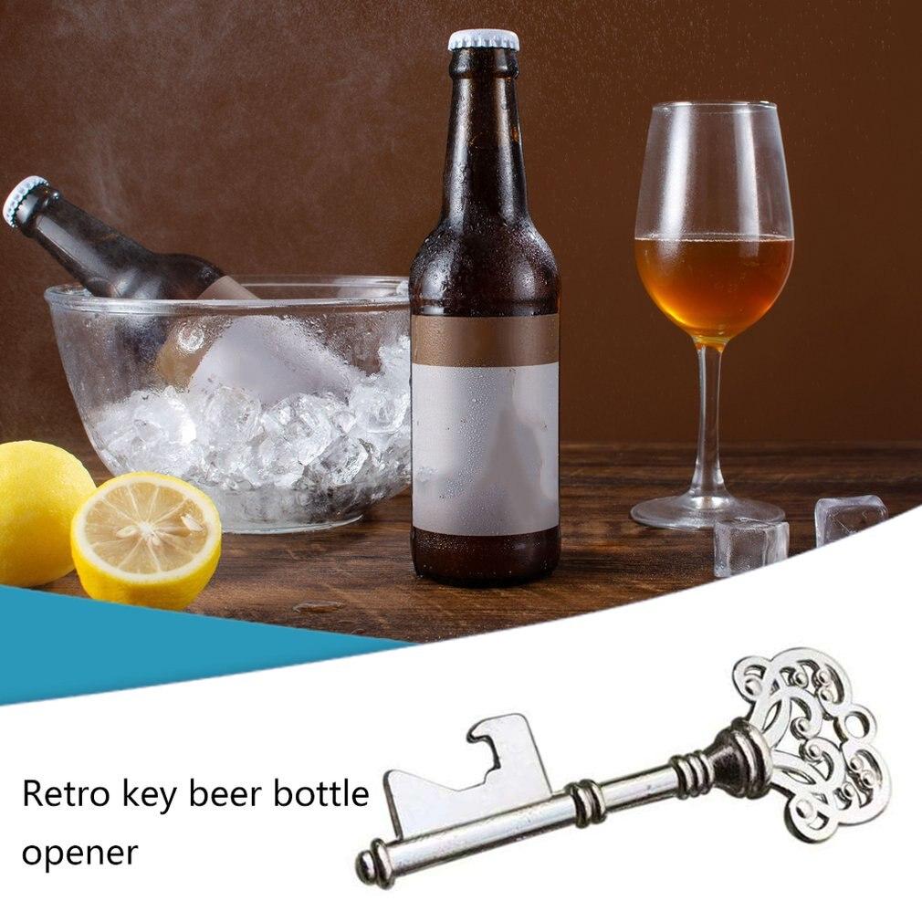 Superficie de aleación de Zinc, abridor de botellas de cerveza Retro y práctico, abridor de botellas creativo