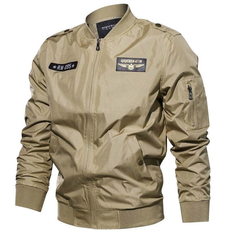 New 2020 Spring Autumn Bomber Jacket Men Jaqueta masculina Plus Size 6XL Army Military Air Force Flight Jacket Coat Windbreaker