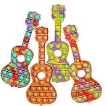 Push Bubble Pop it Fidget Toys Guitar Adult Stress Relief Autism Needs Antistress PopIt Soft Squishy