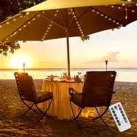 104 led parasol string lights waterproof with remote control battery powered outdoor garden tent lights for holiday party decora