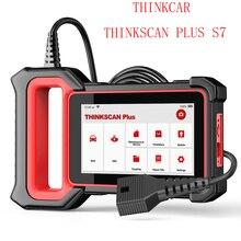 THINKCAR ThinkScan Plus S7 OBDII Автомобильный диагностический инструмент ABS подушка безопасности SRS TCM OBD OBD2 сканер с 5 функциями сброса