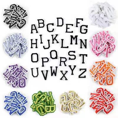 26 шт./компл. A-Z Чистый Белый Английский алфавит буквы патч смешанный вышитый Железный на детей мультфильм патчи для одежды наклейки значок