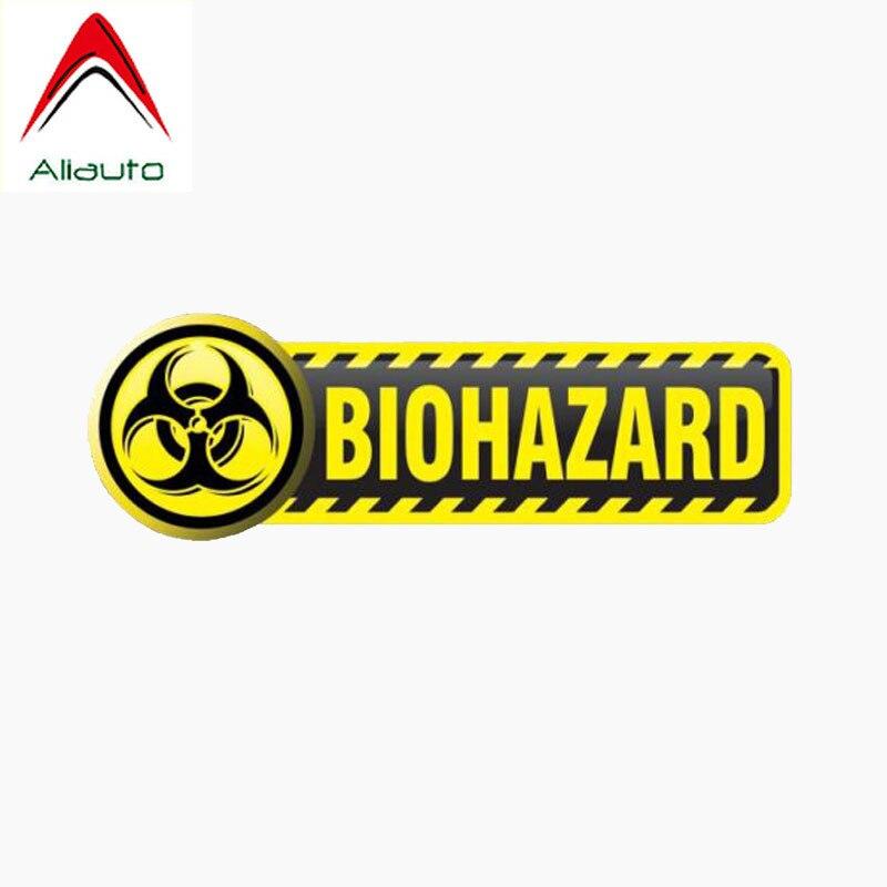 Aliauto calcomanía del coche de personalidad Biohazard firmar la cola del Auto reflectante impermeable protector solar Anti-UV etiqueta, 11cm * 3cm
