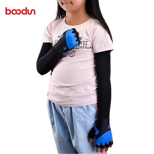 5-12 Years Old Kids Gloves Half Finger with Sun Protection Arm Sleeve Outdoor Sports Skateboard Balance Bike Sleeve Gloves