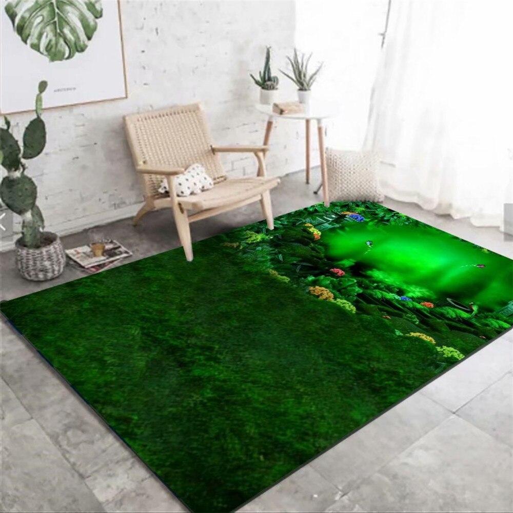Grassland-سجادة مطبوعة ثلاثية الأبعاد للأطفال ، سجادة ناعمة لغرفة النوم ، بجانب السرير ، للعب والزحف ، لغرفة المعيشة الكبيرة