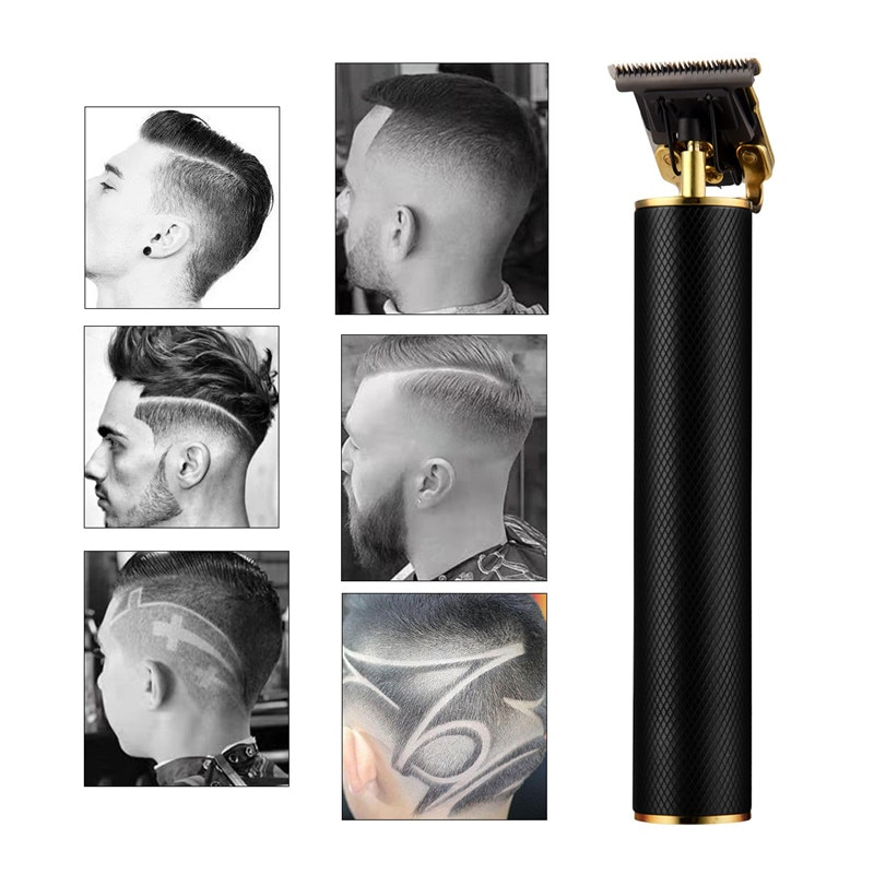 USB Rechargeable Hair Trimmer Cordless Barber Carving Hair Clipper Large Power Low Noise T-Outliner Hair Cutting For Kid Adults enlarge