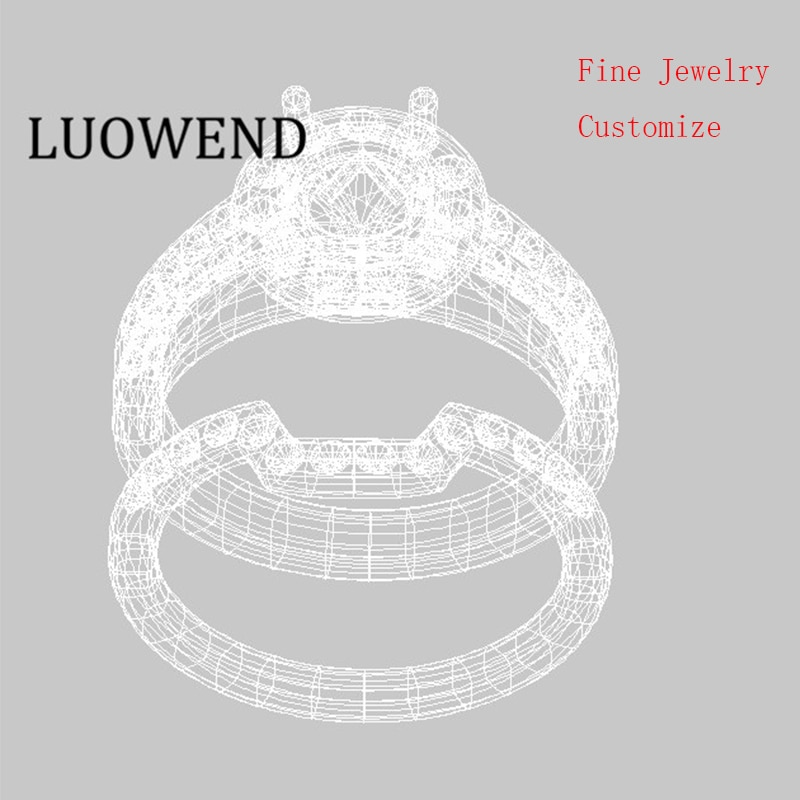 LUOWEND Design Your Own Jewelry Earrings Rings Pendants Necklaces Bracelets Customization