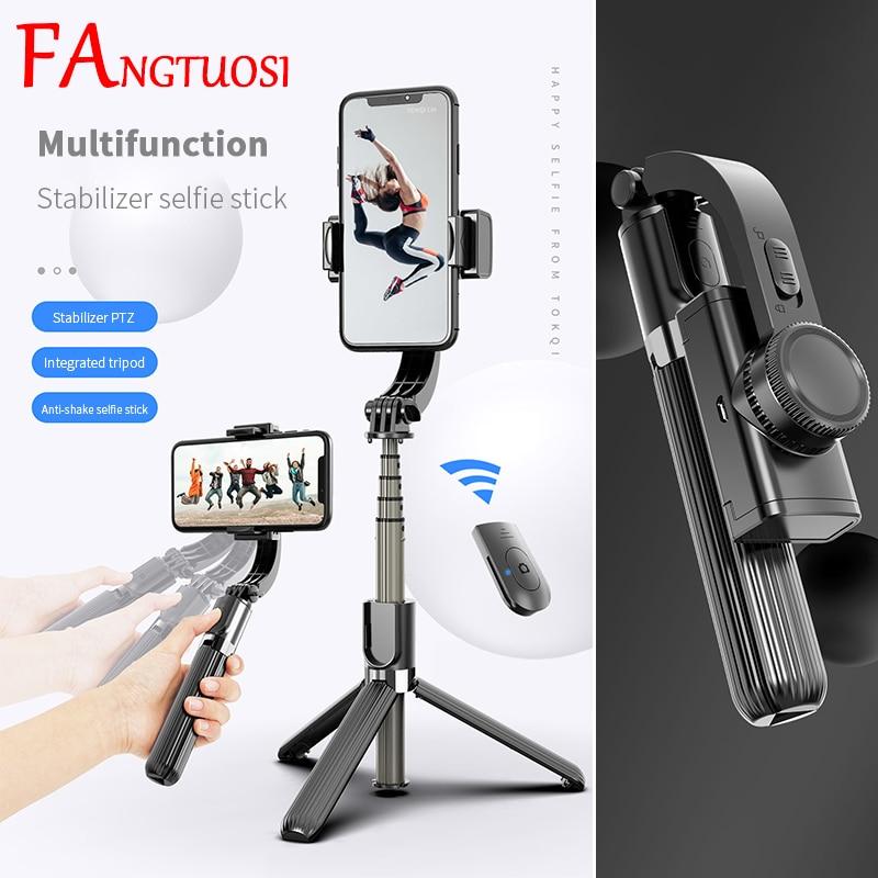 FANGTUOSI Bluetooth Handheld Gimbal Stabilizer Mobile Phone Selfie Stick Holder Adjustable Selfie St