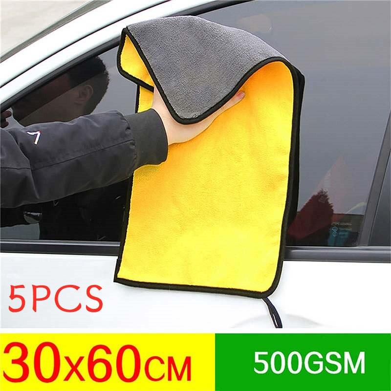 3/5 stücke Extra Weiche Auto Waschen Mikrofaser Handtuch Auto Reinigung Trocknen Tuch Auto Pflege Tuch Detaillierung Auto Glas Windows Reinigung werkzeug