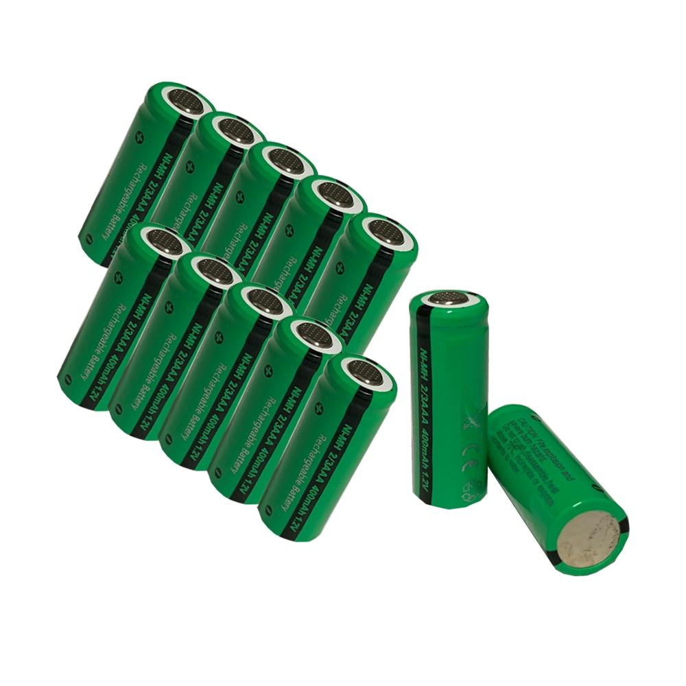 24pcs PKCELL 400mAh 2/3AAA Rechargeable Battery NiMh 2/3aaa Batteries NI-MH 1.2V