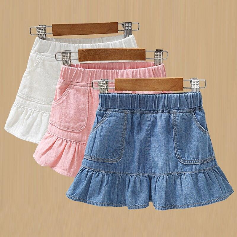 Джинсовые мини юбки для девочек; Летняя одежда для девочек 2021 новая детская одежда Cotton100 % модная одежда для маленьких девочек с юбкой годе Юбка Faldas Aesthetic4 10T Юбки    АлиЭкспресс