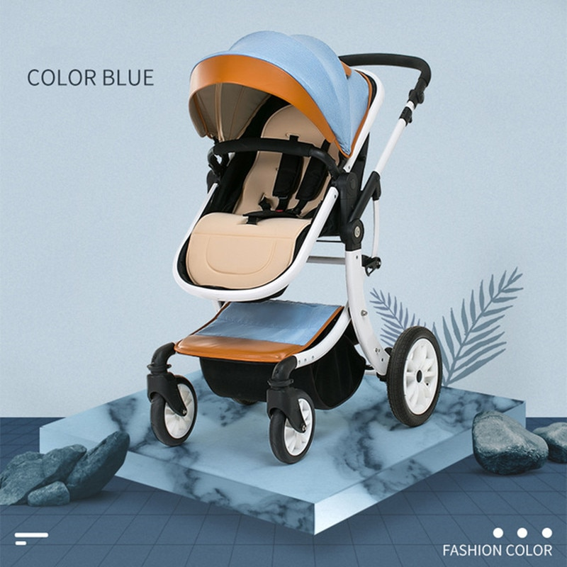 Mother Assistant 3 in 1 Luxury Baby Stroller 360 Degree Rotate Carriage Frame PU Pram EU Safety Car Seat with Bassinet Newborn