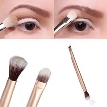 1Pcs Professional Eye Makeup Brush Double Ended Metal Handle Premium Tapered Concealer Highlighter E