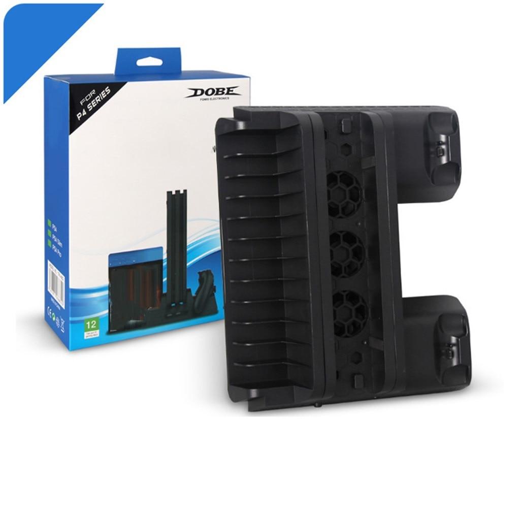 Para Sony PlayStation 4 Ps4 Base DE cargador ventilador multiusos Base controlador carga rápida estación Dock Stand Dualshock Cable USB
