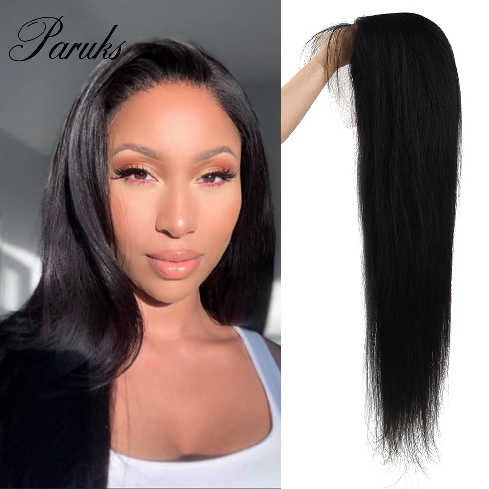 Paruks Indian 13*4 Staight Human Hair Wigs Human Wigs 100% Human Remy Hair 150 Density Wig Remy Human Hair Wigs For Black Woman