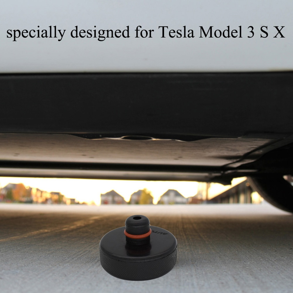 4X Car Rubber Jack Pad Lifting Point Adapter Tool Storage Case Box Non-slip Support Frame Protector For Tesla Model X/S/3 Black enlarge