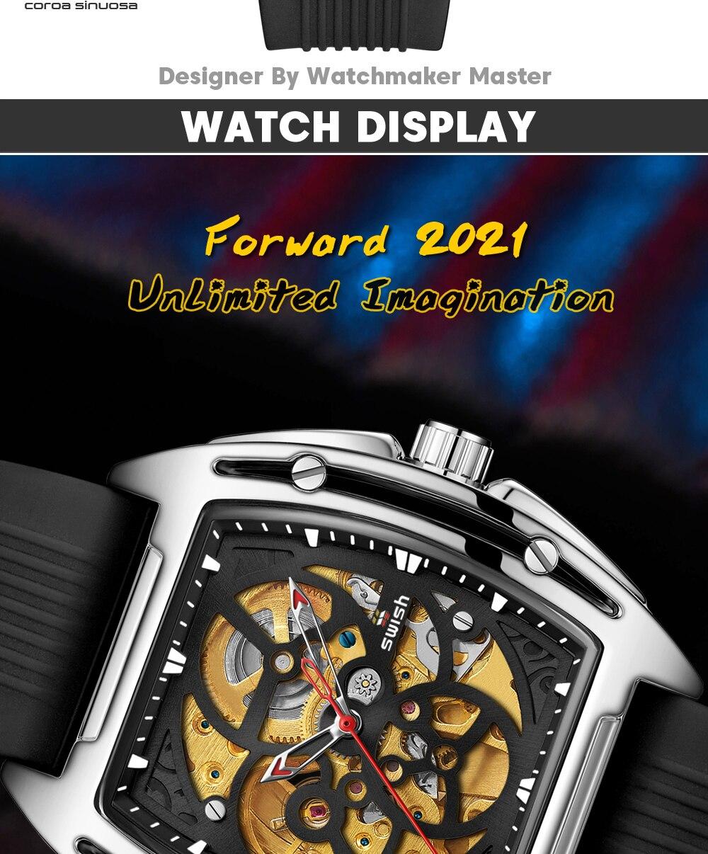 Ha6e2a3cf59fa48d097d8248e514041b7z SWISH Brand Design Luxury Men's Mechanical Wristwatch