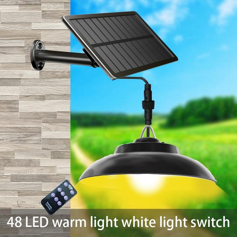 Solar Pendant light outdoor indoor solar light, 3000K/6500Kwarm white/white lighting yard used in courtyard garden yard