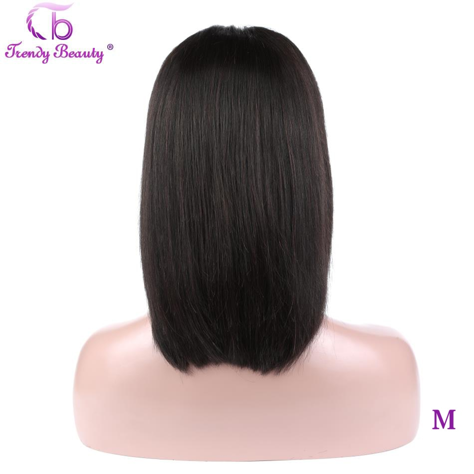 Short Lace Front Human Hair Bob Wigs13x4 Pre-Plucked Brazilian Straight Hair Bob Wigs For Black Women Remy Hair Trendy Beauty