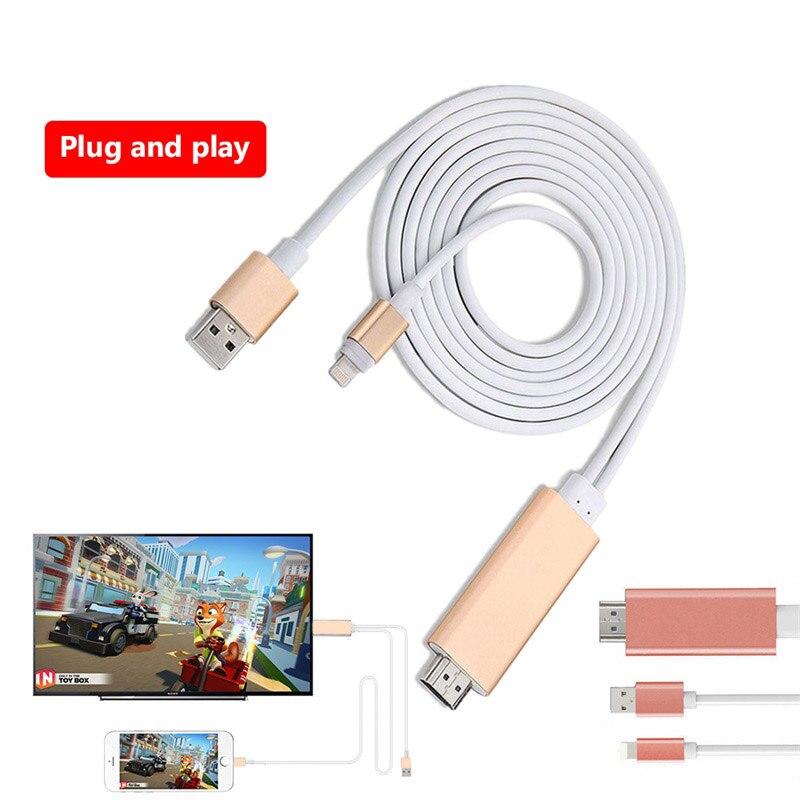 Meuyag dier 8 pinos hdmi-cabo compatível hdtv cabo tv digital av adaptador usb hdmi 1080p conversor cabo para telefones celulares e tablets
