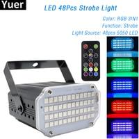 Светодиодный стробоскоп RGB 3 в 1, сценический прожектор с моющим светом пульт ДУ со звуковым управлением и 2 в 1, праздвечерние чный светильник...