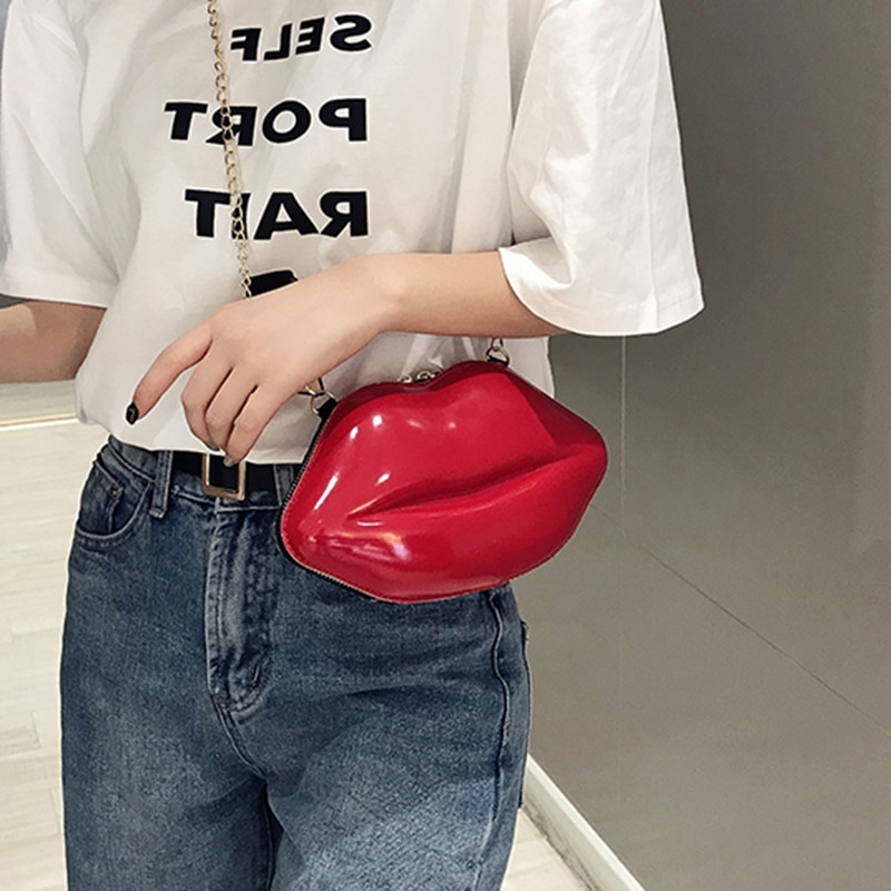 Bolsas para las mujeres 2020 labio Bolsa Bandolera bolso bolsa de cremallera Bolsas de hombro mensajero Bolsa De Teléfono bolsa de embrague Bolsas femenina Saco