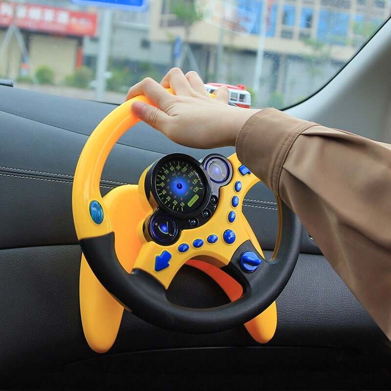 Children's simulation toy Musical Instruments For Kids Baby Steering Wheel Handbell Developing Educational Toy For Children Gift
