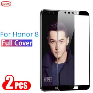 Tempered Glass On Honor 8 Screen Protector Protective Glas For Huawei Honor8 Honer 8  Film 6.5 Huawey Huwei Hawei Onor 3d