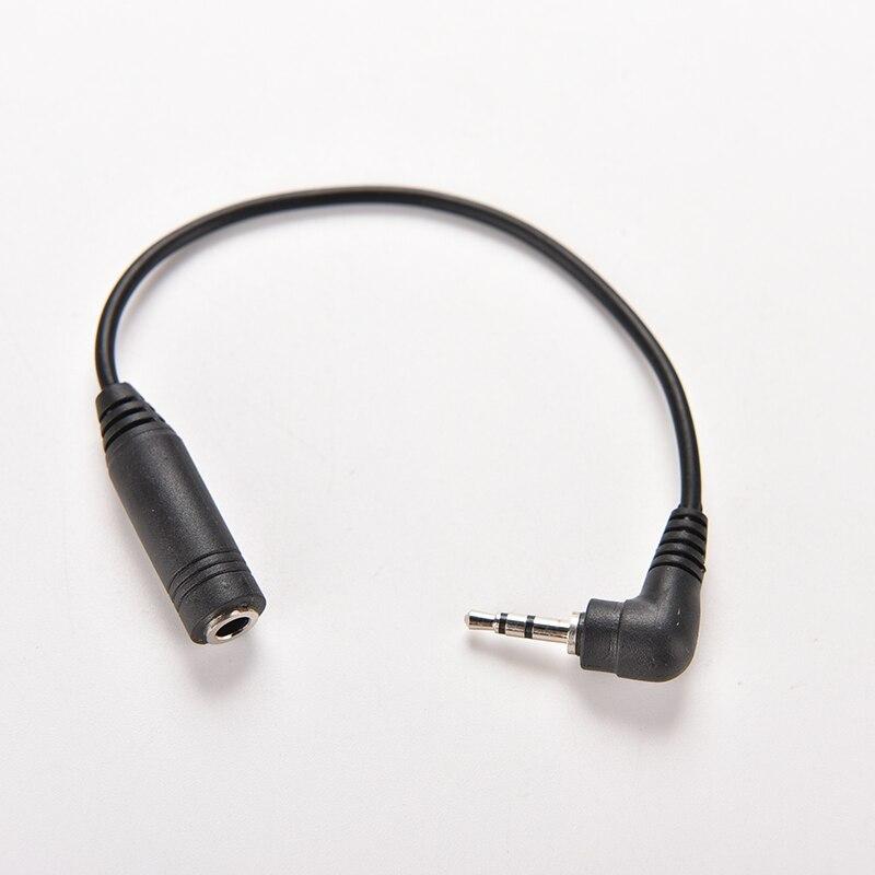 2,5mm macho a hembra de 3,5mm Jack estéreo AUX Audio TRS hembra DC conversor adaptador de corriente Cable de 15,5 CM de longitud