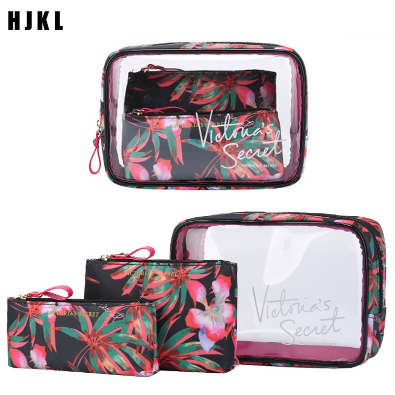 the new portable pvc cosmetic bag 3 piece set outdoor travel bag fashion transparent storage bag waterproof wash bag The new portable PVC cosmetic bag 3-piece set outdoor travel bag waterproof wash bag fashion transparent storage bag