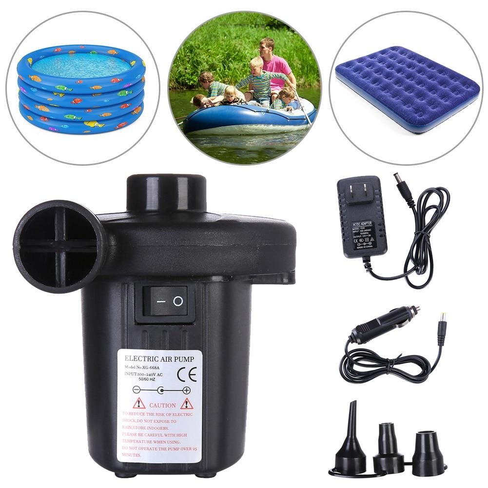Bomba de aire eléctrica inflable, Kayak de exterior, juguetes inflables, colchón de aire para bote, piscina, pelota de Yoga, inflador para sofá