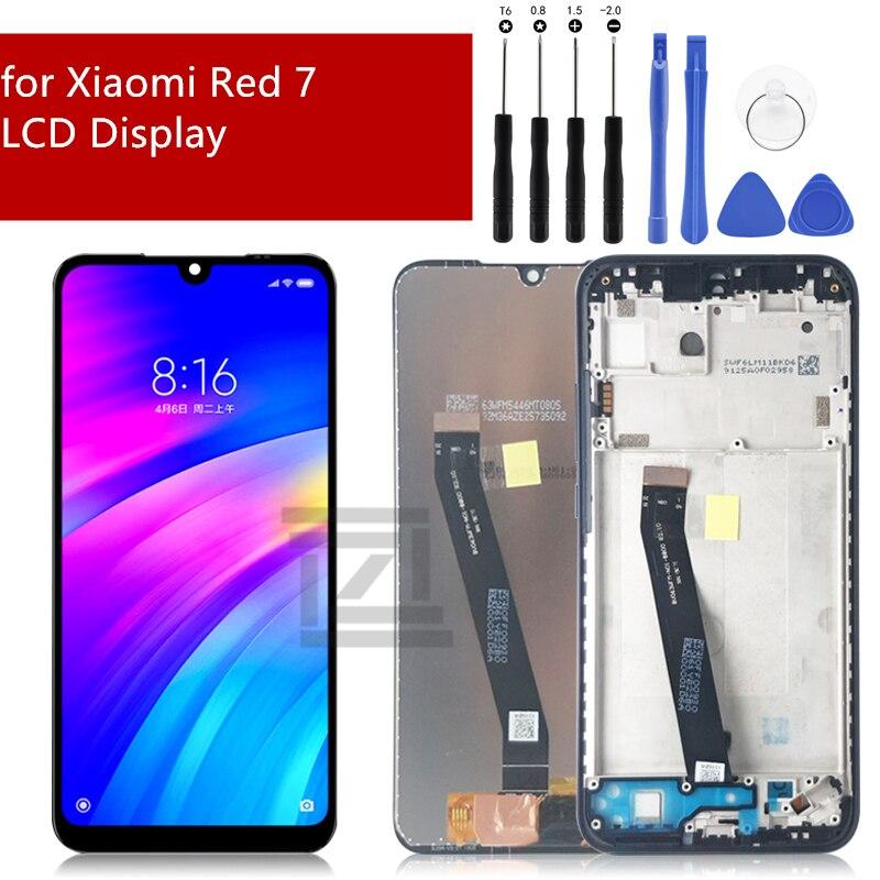 ل xiaomi Redmi 7 شاشة الكريستال السائل مجموعة المحولات الرقمية لشاشة تعمل بلمس, مع أجزاء إصلاح استبدال شاشة الإطار 6.26