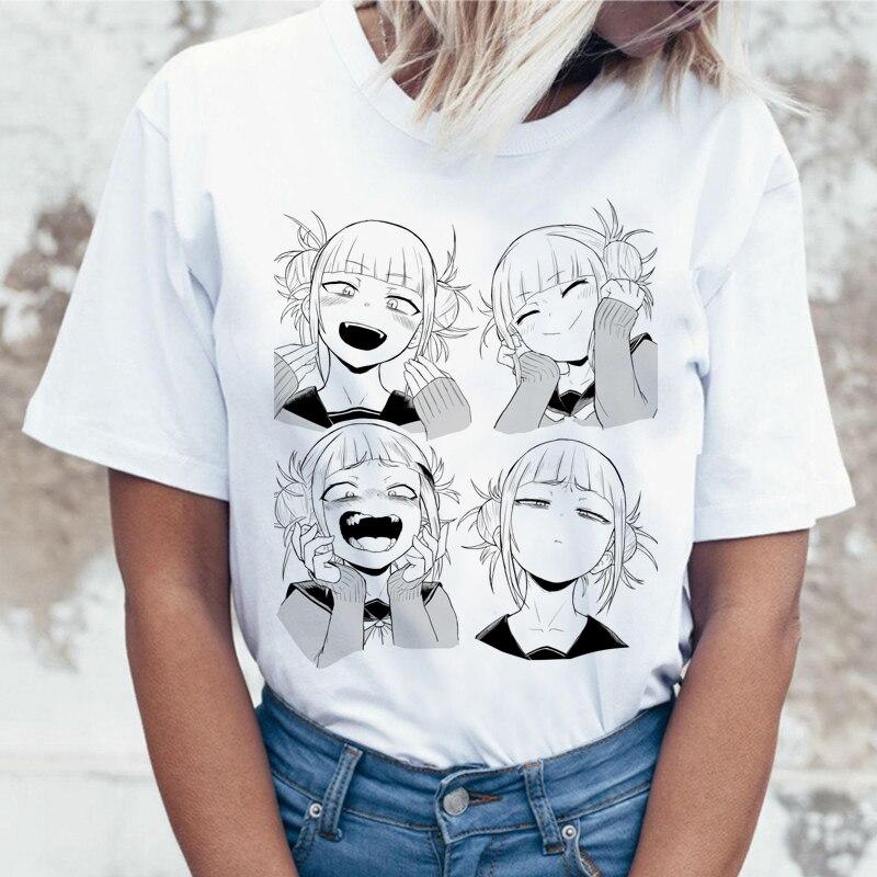 Забавная футболка Сейлор Мун хентай химико Тога Ahegao футболка с героями мультфильмов летняя футболка Harajuku Boku No Hero academic Anime