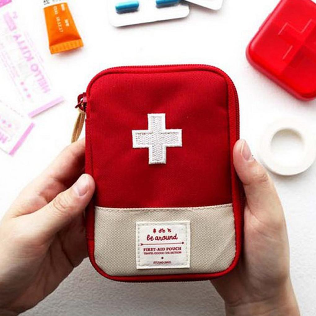 Милая миниатюрная Портативная сумка для лекарств, аптечка первой помощи, медицинские аптечки, органайзер, сумка для хранения таблеток на от...