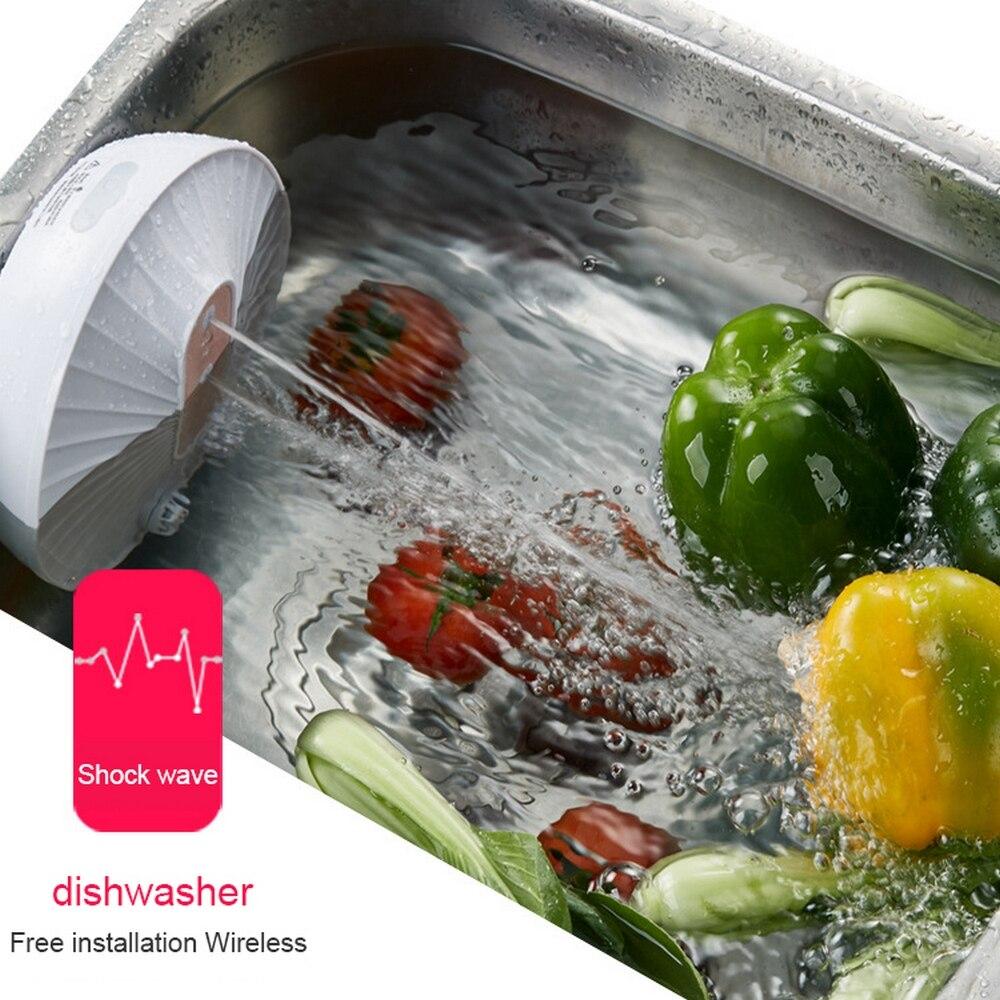Máquina de Lavar Louça Ultra Sônica Recarregável Frutas Legumes Máquina Lavar Roupa Mais Limpa Cozinha Tigela Prato Pia Lavadora Usb
