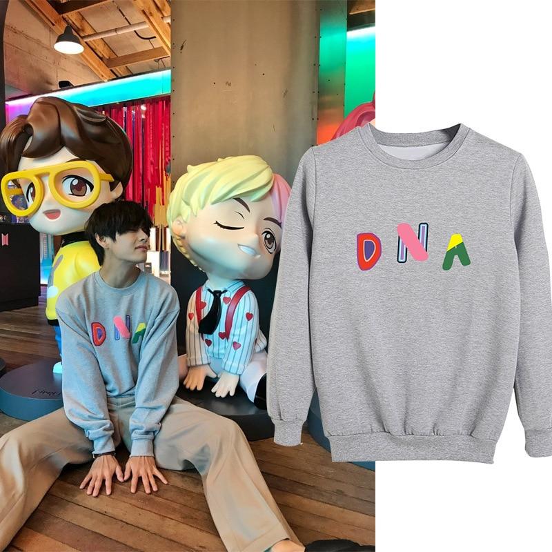 V ADN CASA DE Sweatershirt Kim Tae Hyung mismo con capucha V oficial mismo jersey de cuello redondo de talla grande de las mujeres ropa Dropshipping. Exclusivo.
