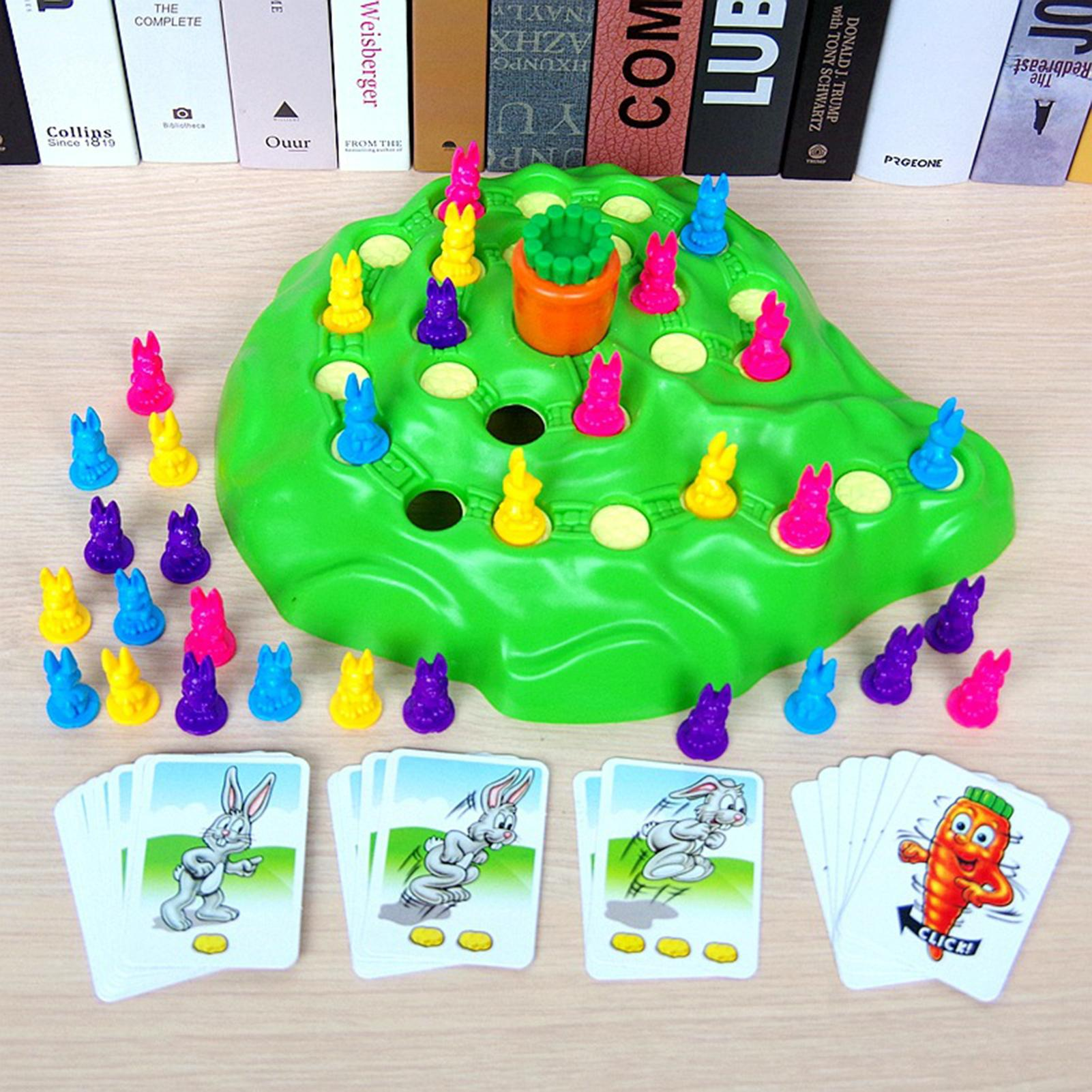 Rabbit Trap Set Chess Carrot Adventure Parent-child Interactive Intelligence Educational Toy gift Children's Puzzle Game