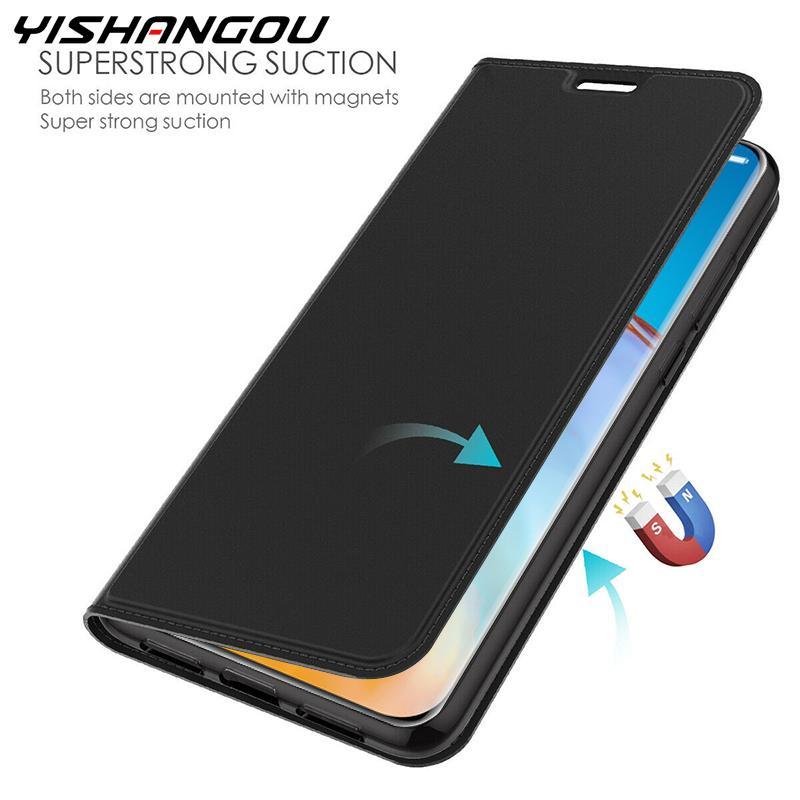 Funda magnética delgada de cuero para Huawei P40 Pro P30 P20 Lite E P Smart Z Plus Y9 Prime 2019 Honor 9A 9X 20 30S P Smart 2020