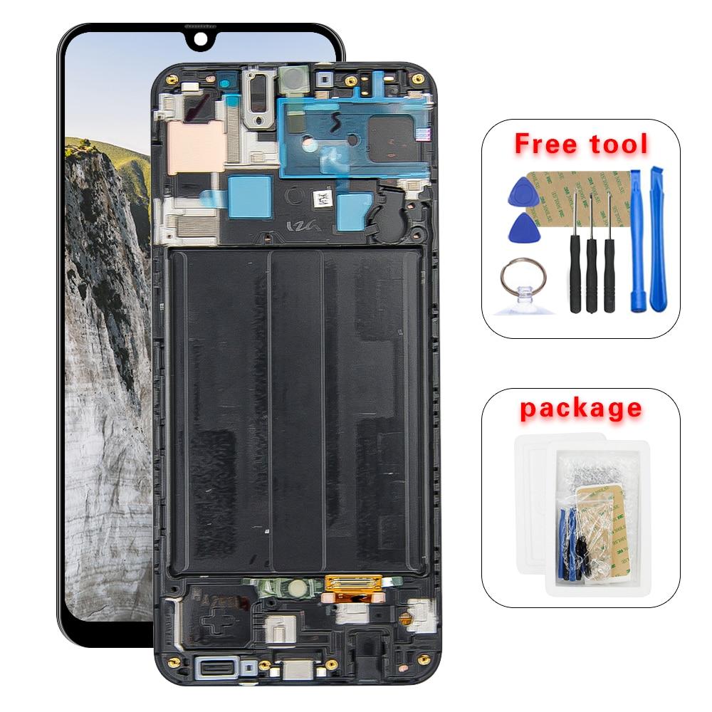 Super AMOLED pour Samsung Galaxy A50S SM-A507FN/DS A507F/DS A507 LCD écran tactile numériseur assemblée avec cadre