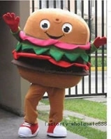 advertising hamburger mascot costume suit dining shop ads outfit halloween party game dress outdoor cartoon suit adult size