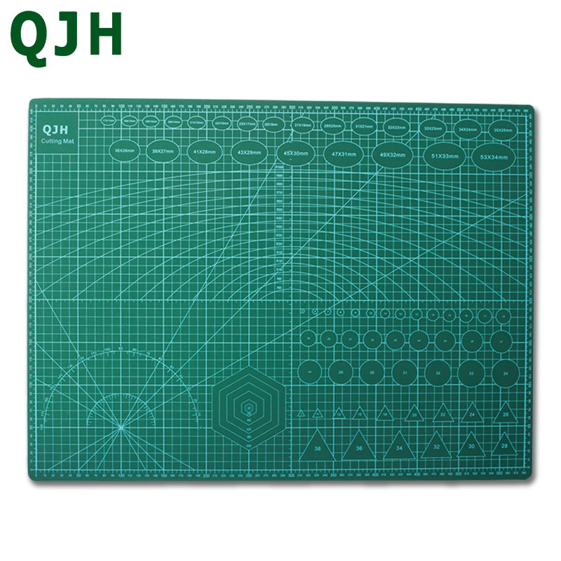 PVC A3 A2 DIY Craft Cutting Mat Multipurpose Self Healing Cutting Mats for Quilting Double-Sided Leather Tools Mat for Cutting