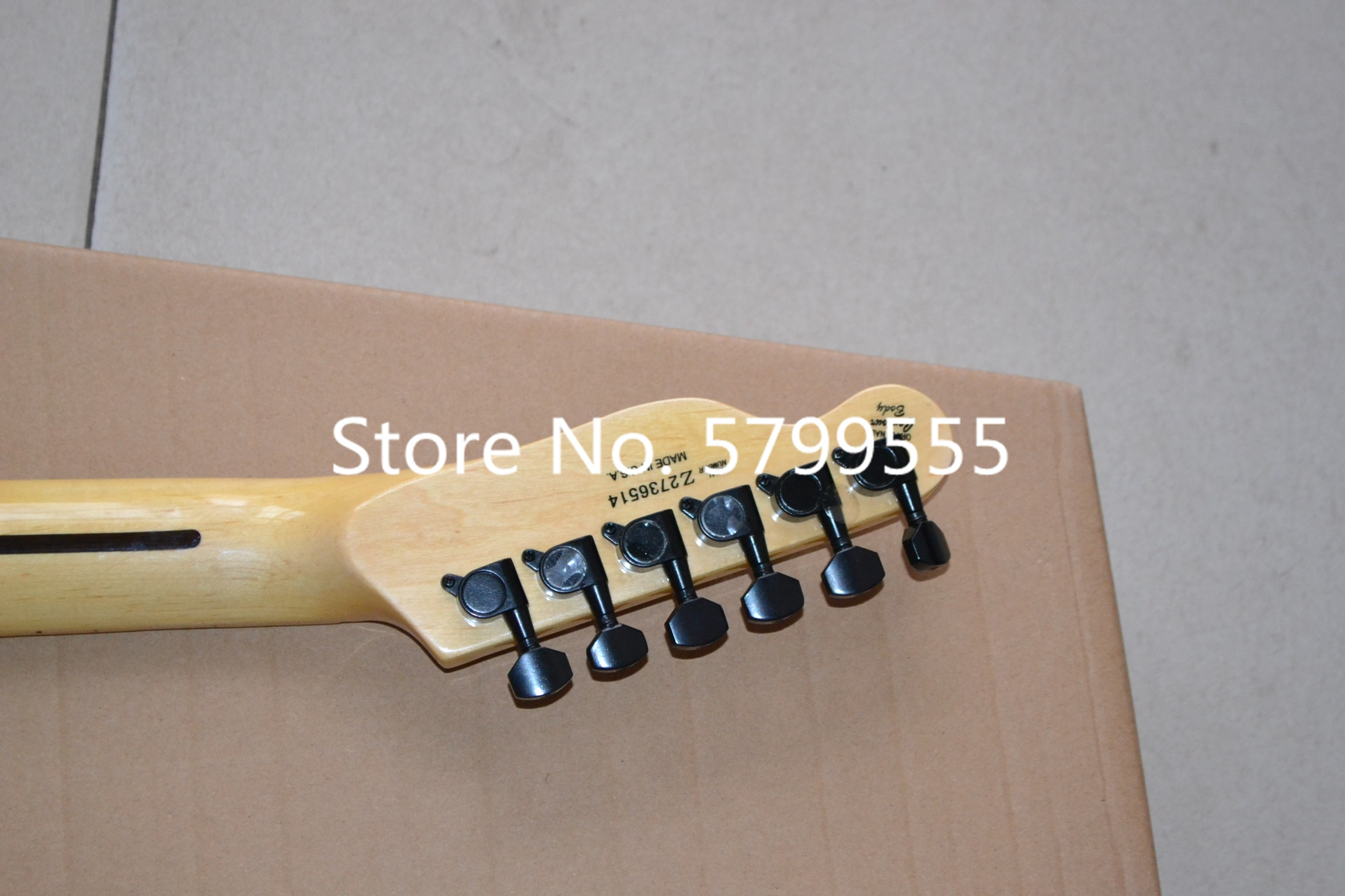 Black and dumb point, high quality white maple fingerboard electric guitar, live guitar signature electric guitar free sh enlarge