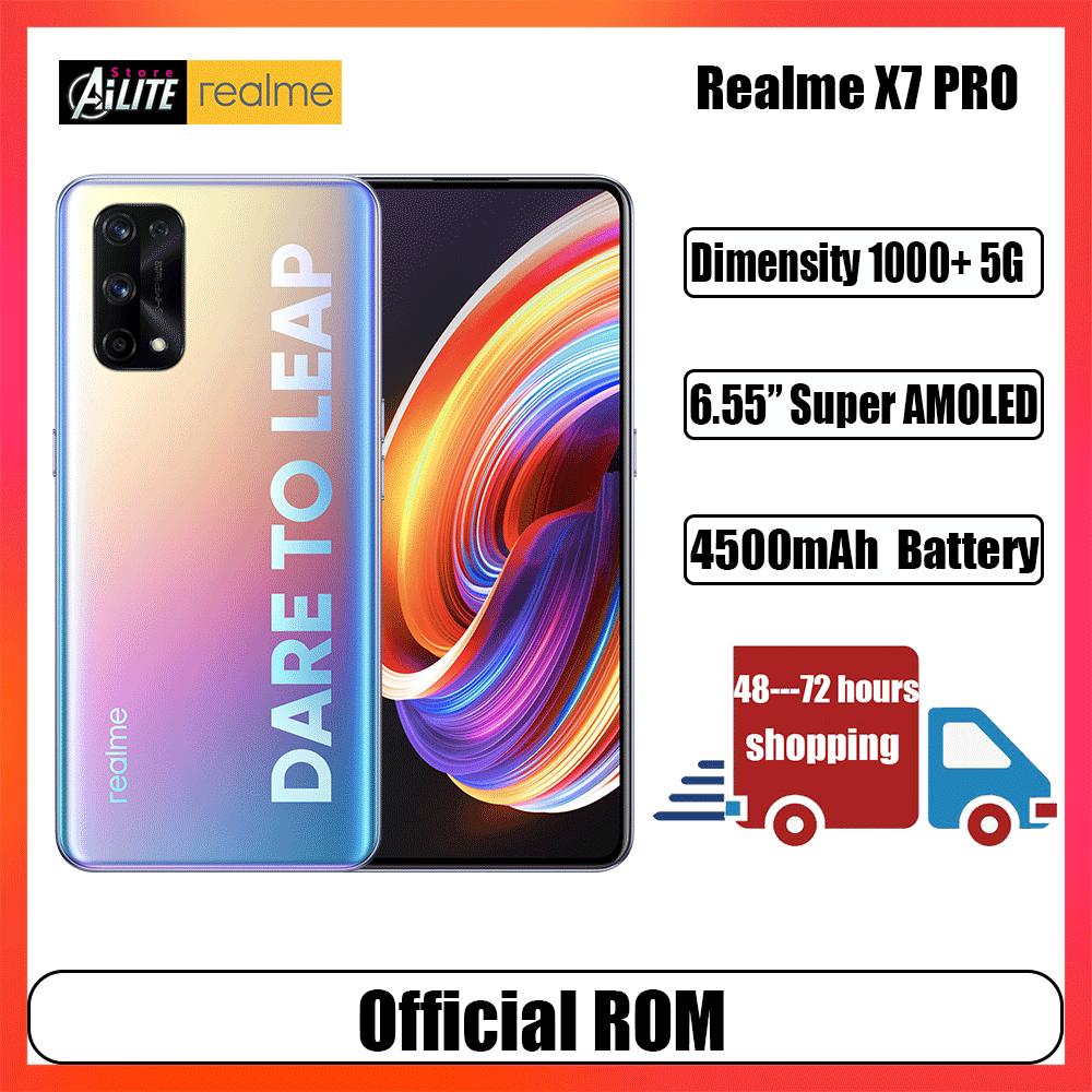 Перейти на Алиэкспресс и купить Realme X7 Pro 8 ГБ 128 5G смартфон MTK1000 + 6,55 дюймFHD + безрамочный экран 120 Гц активно-матричные осид, 65 Вт Быстрая зарядка NFC 64-мегапиксельная четырехъядерна...