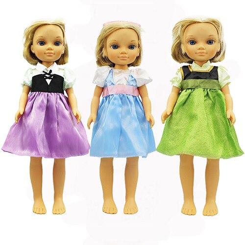 Roupas vestido para boneca famosa, novo estilo, acessórios para roupas