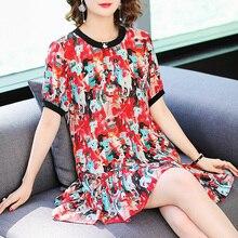 Vraie robe en soie femmes grande taille robe dété dames imprimer robe De soirée robes De plage Vestidos De Verano 2020 G8168101 YY2911