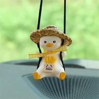 1pcs cute swing duck car pendant decoration auto rearview mirror pendant for gift car goods interior home decor accessories