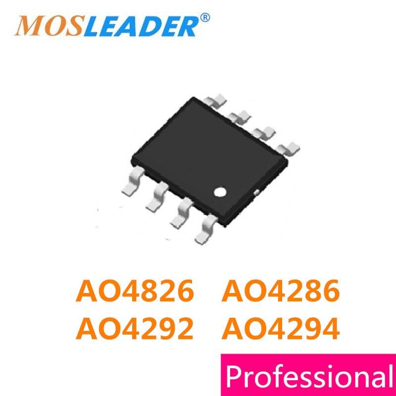Mosleader 100 قطعة SOP8 AO4826 AO4286 AO4292 AO4294 N-قناة 4826 4286 4292 4294 عالية الجودة