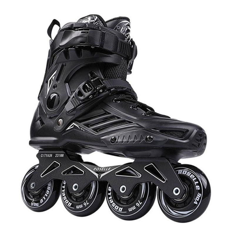 JK Original Inline Roller Skates Slalom Sliding FSK Adult Kids Roller Skating Shoes 4 Wheels Patines PU Tires Rollerblade