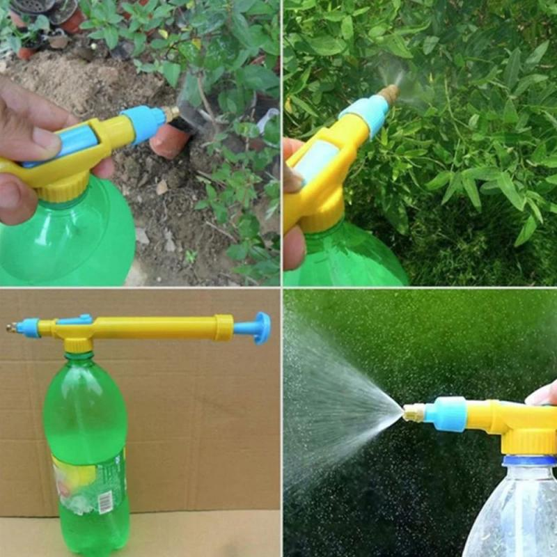 1 unidad de interfaz de botella de rociador de mano de plástico bomba de presión de jardín pistola de Agua pulverizada botella herramienta para esparcir nebulizador Pulverizador Agua casa